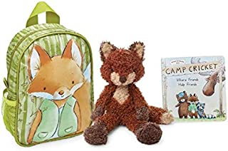 Bunnies by the Bay Foxy The Fox Camp Cricket Gift Set with Book and Backpack