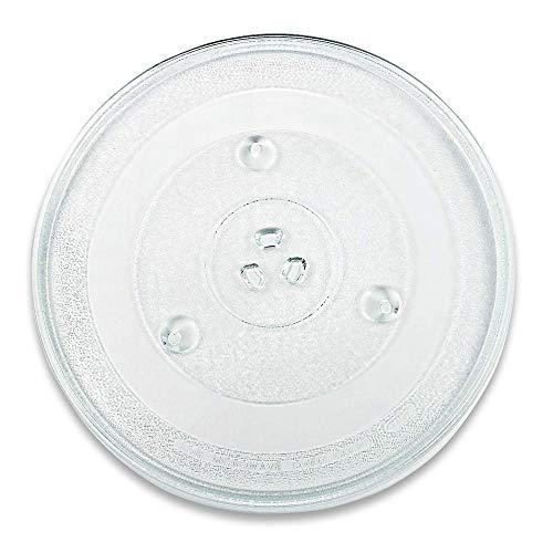 Drehteller für Mikrowelle 31,5 cm Mikrowellenteller 315 mm Glasteller Drehteller Ersatz Teller Glasplatte Glasdrehteller für Mikrowellen