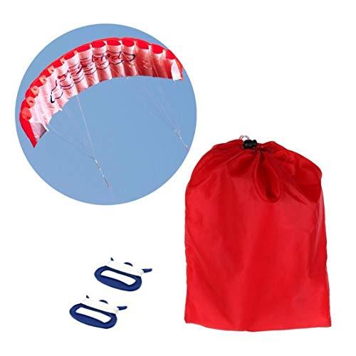 1,4m Doppellinie-Kitesurf-Stunt-Fallschirm Soft-Gleitschirm-Surf-Drachen Sport-Drachen Riesige Große Outdoor-Aktivität Strand-Drachen - Rot