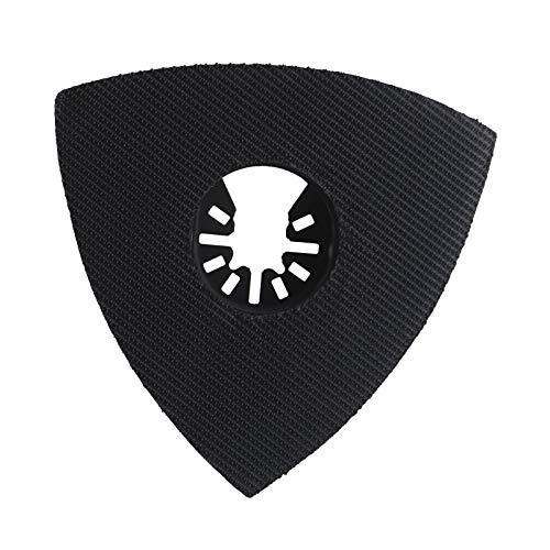 1 almohadilla de lijado triangular oscilante multiherramienta de 90 mm con velcro compatible con Dewalt Stanley Bosch Makita