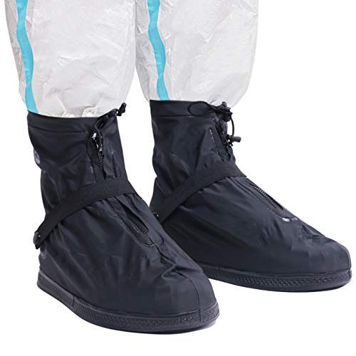 Life-C Black Waterproof Snow Rain Shoes Covers Women Men XXXL