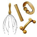 Vivezen ® Kit de massage 4 pièces en bois pour le dos, la tête, les...