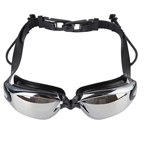 BESPORTBLE Schwimmbrille Galvanisierte Schwimmbrille Anti-Fog Kein Undichter UV-Schutz Bruchsichere Schutzbrille für Erwachsene (Schwarz)