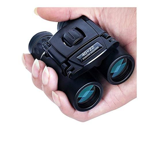 YANODA Outdoor 40x22 Prismáticos Compacto Zoom de Largo Alcance 2000m Plegable HD Mini Telescopio BAK4 Caza Óptica acampa de los Deportes Trave Sightseeing (Color : Black)