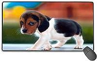 マウスパッド 子犬 超大型 ゲーミングマウスパッド おしゃれ 耐久性 滑り止め PCマットオフィス 光学式マウス対応40*75