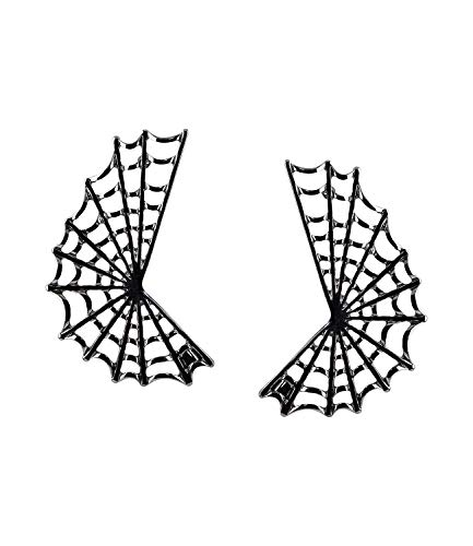 SIX Graue Ohrstecker für Halloween oder Mottoparty Spinnennetz Ohrringe für Grusel-Kostüme, Karneval, Hexe, Kostüm, Fasching (781-381)