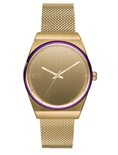 Mini Cirero Gold, Edelstahlgehäuse, Mesh Armband, Damenuhr, Armbanduhr, hochwertiges Mineralglas, 3 bar Wasserdicht
