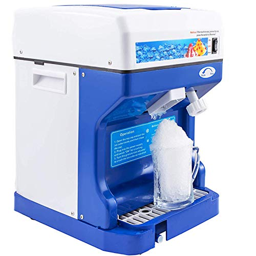 VEVOR 110V Electric Shaved Ice Crusher, 250W Snow Cone Maker Tabletop w/Adjustable Ice Texture, Ice Shaving Machine 265LBs/hr for Home and Commerical Use