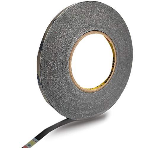2 mm Schwarz Aufkleber Klebeband für zur Verwendung in bei Handy doppelseitiges Klebeband stark klebend Sticker Tape für Smartphone Tablet Reparatur Selbstklebend Handy Touchscreen LCD
