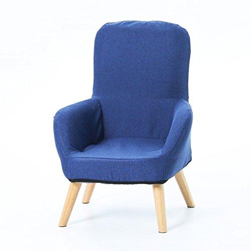 Lazy sofa Po Mother Stillstuhl Klappstuhl Stillstuhl mit waschbarem Baumwoll- und Leinenmantel und seitlicher Aufbewahrungstasche LI Jing Shop (Farbe : Marine, größe : 62 * 50 * 95cm)
