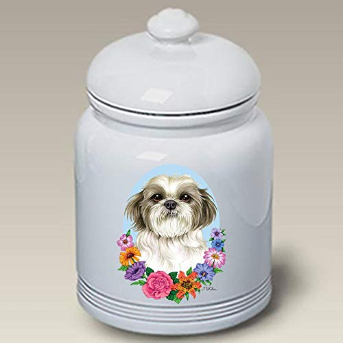 Shih Tzu Puppy Cut - Best of Breed Ceramic Doggie Treat Jar