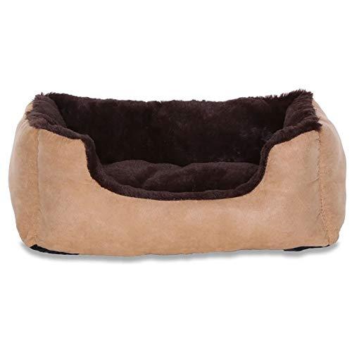 Cama para perros – Perros Cojín – Perros sofá con cojín Reversible tamaño y color a elegir (marrón / beige)