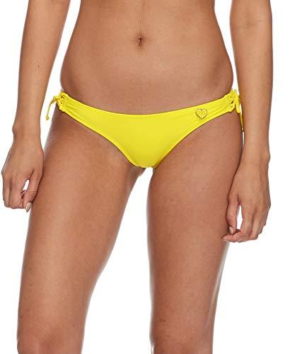 Body Glove Damen Smoothies Isla Solid Cheeky Coverage Bikini Bottom Swimsuit Bikinihose, zitrusgelb, Medium