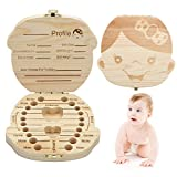 Baby Tooth Keepsake Box, Deciduous Teeth Milk Teeth Saver Boxes, Wooden First Tooth and Curl Memory Container for Child/Kids/Newborns - Girl