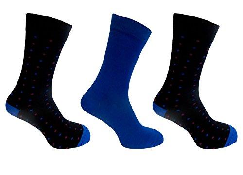 Chaussettes Alexander Bambou Vert pour homme 7–11 Motif à pois Style, Bleu, Normal