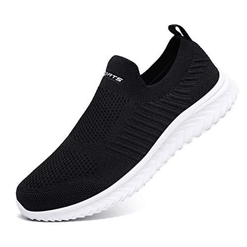 [VITIKE] スニーカー メンズ ナースシューズ スリッポン レディース ウォーキングシューズ 白 黒 看護師 靴 軽量 通気性 歩きやすい 履きやすい ランニングシューズ 滑り止 カップルシューズ 男女兼用 26cm