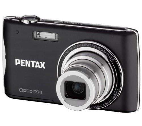Pentax Optio P70 - Cámara Digital Compacta 12.4 MP - Negra (2.7 Pulgadas LCD, 4X Zoom Óptico)