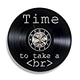 AIYOUBU Web Developer Funny 12Vinyl Record Wall Clock - Regalo de Programador de código HTML