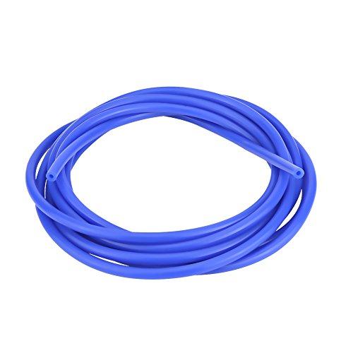 Silikon-Vakuumschlauch 4mm, Vakuumschlauch Automotive Silikonschlauch 4 mm Außendurchmesser Universal Car 5 Meter Silikon-Vakuumschlauch Schlauchrohr Silikonschlauch (-60 ~ + 260 ℃) - Blau/Rot(蓝色)