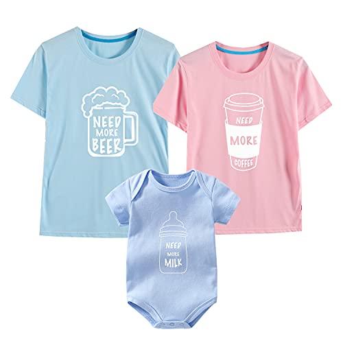 culbutomind Divertido bebé mameluco camisa niño bebé niño familia camisas conjunto familia trajes familia camisas ropa a juego