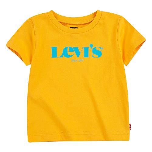 Levi's Kids LVB S/S MODERN VINTAGE TEE C814 Camiseta Kumquat Yellow para Bebé-Niños