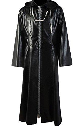 Cosplaysky Organization XIII Kingdom Hearts Coat Roxas Costume Big Zipper Version Medium