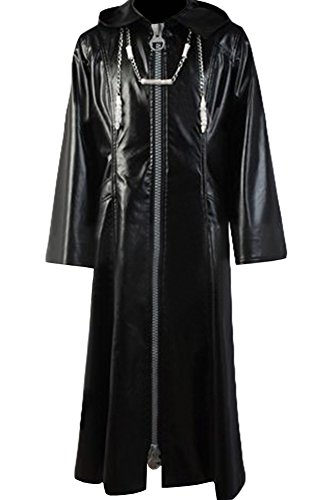 Cosplaysky Organization XIII Kingdom Hearts Coat Roxas Costume Big Zipper Version XX-Large