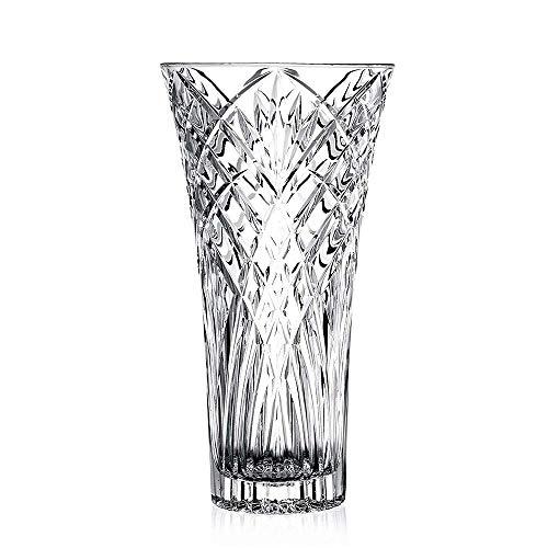 "JASVIC Vase, 12"", Fashion Vases Lead-Free Crystal Glass Vase, Flower Inserted European Transparent Vases for Decor, Living Room;Dining Table Decoration"