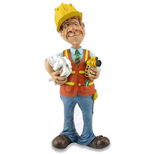 Les Alpes Orig. Figura Geometra 15,5cm - Statuina Figurina Dipinta a Mano in Resina Sintetica - Collezione Funny World Mestieri Ufficio - 014 99514