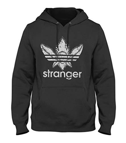 1/4 MILE KULT CLOTHING Stranger Things Demogorgon Kaupzenpullover (L, Schwarz)