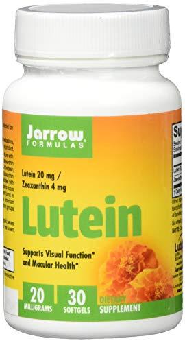 Jarrow Formulas Lutein, 20mg - 30 softgels - 30 Cápsulas