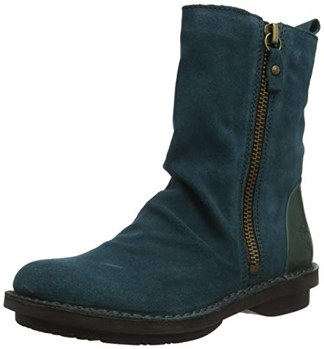 Fly London Damen FADE966FLY Stiefeletten, Green Petrol 008, 40 EU