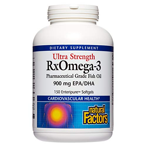Natural Factors Ultra Strength RxOmega3 Fish Oil DHA and EPA 150 softgels 150 servings