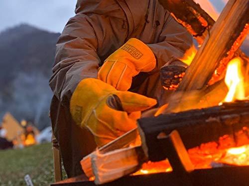 東和コーポレーションEXTRAGUARDTAKIBIEG-012Fサイズ《耐久性と耐熱性に優れニオイや汗ムレ対応でプロ現場からキャンプまで》イエロー