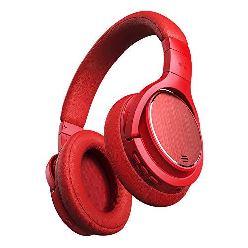 Actieve Ruisonderdrukkende Hoofdtelefoon - 4.1Bluetooth Hoofdtelefoon Geluid Type-C Opvouwbare Draadloze Hoofdtelefoon Over Oor voor Vliegtuig Reizen Work-rood