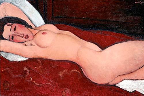 "Amedeo Modigliani Reclining Nude Museum of Modern Art - New York 30"" x 20"" Wall Art Giclee Canvas Print (Unframed)"