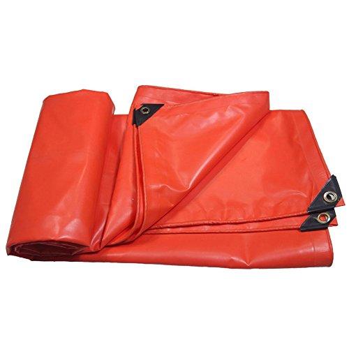 Pengbu MEIDUO Bâches Orange PVC Haute résistance résistance épaissir Tissu imperméable Tissu de Pluie linoléum Tissu de Pluie Tissu Ignifuge 500g / m²-0.4mm pour l'extérieur (Taille : 4mx10m)