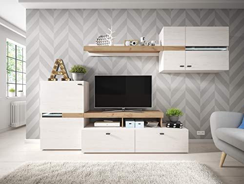 MHF Jet 2 Wohnwand Andersen Kiefer Golden Craft Eiche TV Stand Wandregal Sideboard Wohnzimmer Modern