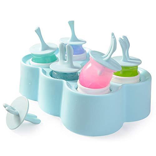 Moldes para helados, un conjunto de seis moldes de silicona para paletas de hielo, pingüino, búho y oso, moldes para paletas de hielo para niños y adultos, moldes para paletas de hielo.