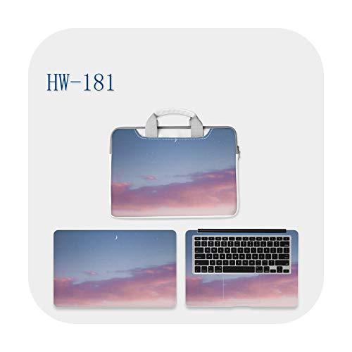 Funda para ordenador portátil de mensajero de bricolaje manual de corte de película protectora de 11-15/17' cielo paisaje multi-patrones se pueden personalizar-HW-181-17