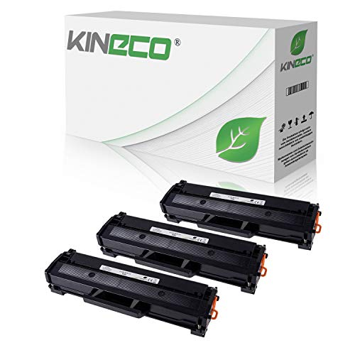 3 Kineco XXL Toner (150% mehr Inhalt!) kompatibel mit Samsung MLT-D111S für Samsung M2026W, M2022W, M2022, M2070W, M2070FW, M2020, M2000 - MLTD111S/ELS Schwarz je 2.500 Seiten