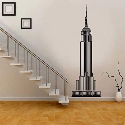 Nueva York Empire State Building vinilo pared pegatina edificio exhibición Navidad vacaciones decoración navideña