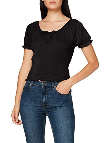 PIECES Damen PCANNIE SS TOP BC Bluse, Black, XL