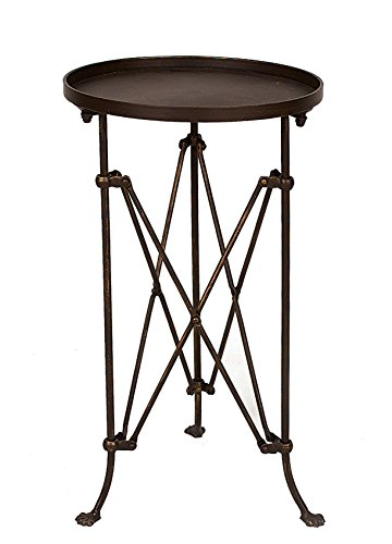Creative Co-Op Round Metal Accent Table, 25', Bronze