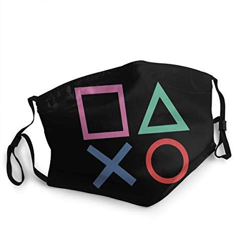 Playstation Joypad Unisex Half Face Mundschutz Anti Staubschutz Schal Stirnband Sturmhaube für den Außenbereich