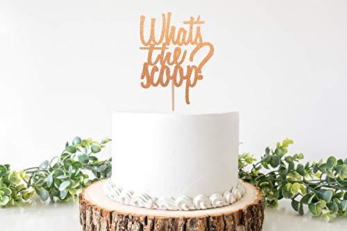 Wat is de Scoop Cake Topper/Wat is de Scoop Gender Reveal/Ice Cream Gender Reveal/Wat is de Scoop Gender Reveal Decoraties