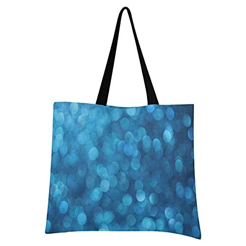 Livingsoft Sea Ocean Bubbles - Bolsa de lona reutilizable con bolsillo con cremallera para mujeres y hombres
