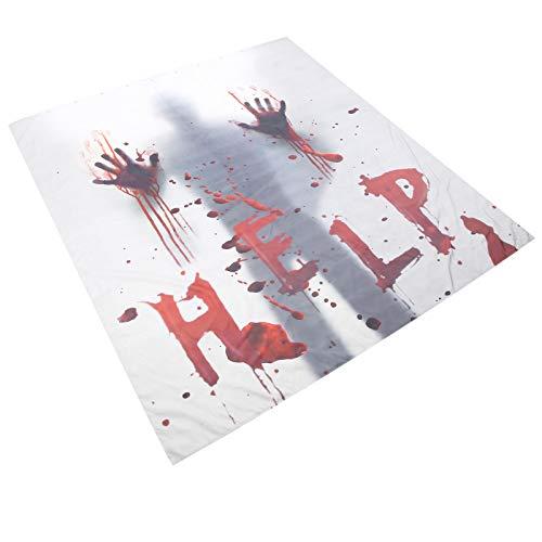 Emoshayoga Patrón de impresión Digital Impermeable Decoración de Halloween Cortina de baño...