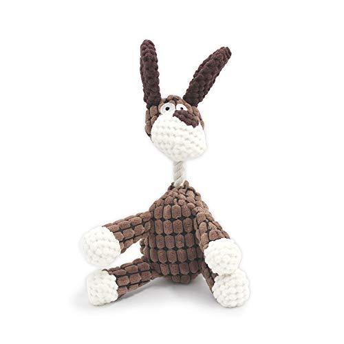 SONGWAY Esel Hundespielzeug für Kleinen Hund – Plüsch Hund Quietschende, Kauen Spielzeug im Form des Esels, Welpenspielzeug Stofftier, Kauspielzeug für Welpen Zahnwechsel, Zerrspielzeug Hund