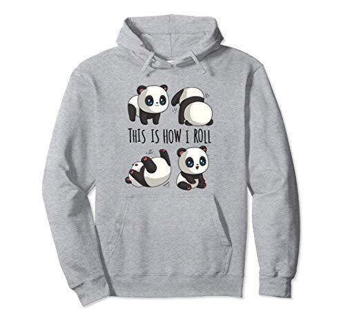 Chibi Cute Panda For Girls Little Bear Panda Gifts Panda Pullover Hoodie